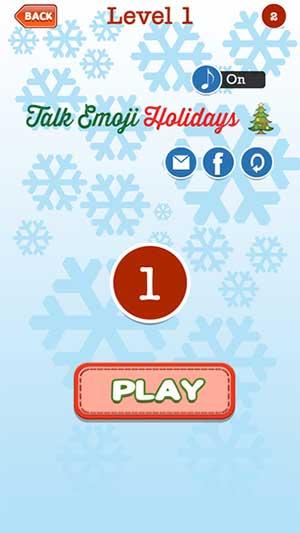 talk emoji holidays