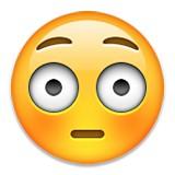 Embarassed or flushed emoji