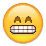 Yikes or grimace emoji