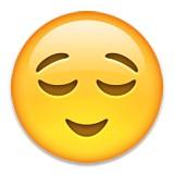 Relieved emoji