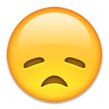 Disappointed or depressed emoji
