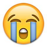 Sobbing emoji