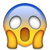 Screaming emoji