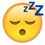 Sleeping emoji