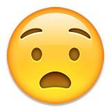 Disbelief with eyebrows emoji