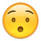 Surprised with eyebrows emoji