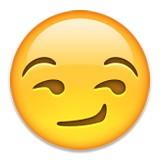 Smirking emoji