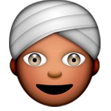 Man wearing turban emoji
