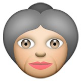 Old woman emoji