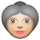 Old woman emoji