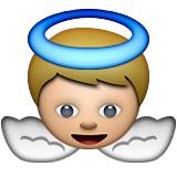 Angel with wings emoji