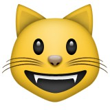 Smiling cat emoji