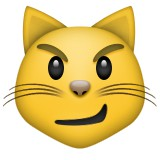 Smirking cat emoji