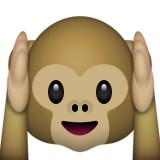 Hear no evil monkey emoji