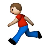 Man running emoji