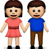 Boy and girl holding hands emoji