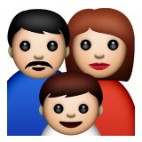 Family of mom dad and son emoji