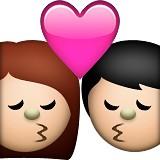 Boy and girl kissing emoji