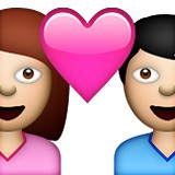Boy and girl in love emoji