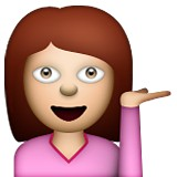 Girl with hand out emoji