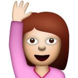 Girl raising hand emoji