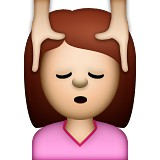 Girl getting head massage emoji