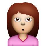Surprised girl emoji