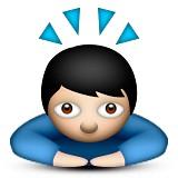 Praying man emoji
