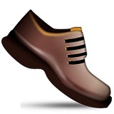 Brown shoes emoji