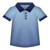 Blue t-shirt emoji