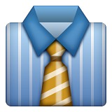 Suit and tie emoji