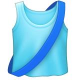 Running shirt with sash emoji