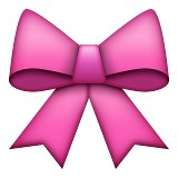 Pink bow emoji
