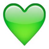 Green heart emoji