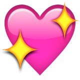 Sparkling heart emoji