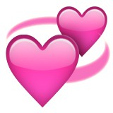 Two hearts intertwined emoji