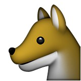 Side of a wolf face emoji