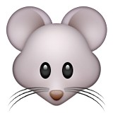 Mouse face with whiskers emoji