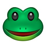 Green frog with smile emoji