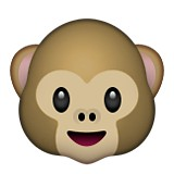 Monkey face with smile emoji