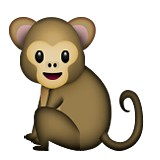 Monkey with body emoji