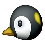 Penguin face emoji