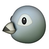Bird face emoji