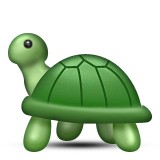 Turtle walking emoji