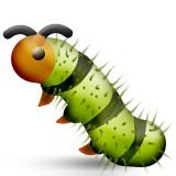 Standing caterpillar emoji
