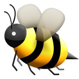Bumble bee flying emoji
