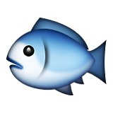 Blue fish emoji