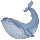 Blue whale emoji