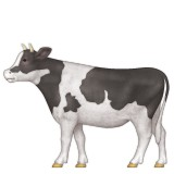 Cow with full body emoji