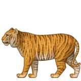 Tiger with full body emoji
